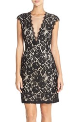 Women's Aidan By Aidan Mattox Open Back Lace Sheath Dress