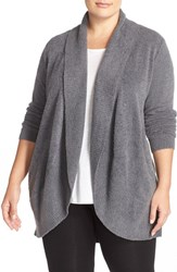 Barefoot Dreamsr Plus Size Women's Dreams Open Front Circle Cardigan