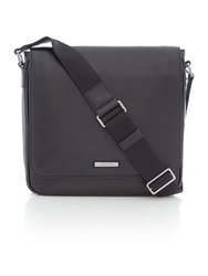 Michael Kors Warren Leather Messenger Bag Black