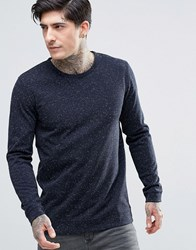 Minimum Fleck Knit Jumper Navy