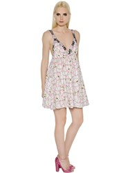 Giamba Embroidered Floral Tulle Dress