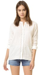 Scotch And Soda Maison Scotch Button Up Shirt With Cutouts Off White