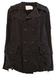 Greg Lauren Double Breasted Jacket Black