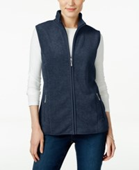 Karen Scott Fleece Zip Front Vest Only At Macy's Intrepid Blue