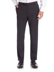 Strellson Slim Fit Wool Dress Pants Charcoal