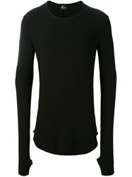 Lost And Found Ria Dunn Curved Hem Jumper Black
