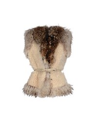 Le Sentier Coats And Jackets Faux Furs Women Beige