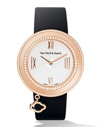 Pink Gold Charms Watch With Diamonds 38Mm Van Cleef And Arpels Pink Gold