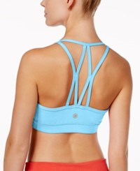 Gaiam Iris Low Mid Impact Sports Bra Light Blue