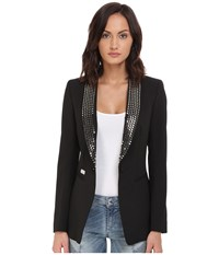 Philipp Plein Studded Blazer Black Women's Jacket