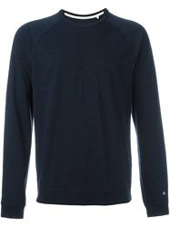 Rag And Bone Raglan Sleeve Sweatshirt Blue