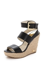 Michael Michael Kors Poesy Wedge Sandals Black