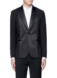 Paul Smith 'Soho' Satin Front Wool Tuxedo Blazer Black