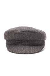 Etoile Isabel Marant Evie Flanelle Hat In Gray Checkered And Plaid Gray Checkered And Plaid
