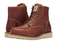 Carhartt 6 Inch Tan Waterproof Wedge Boot Tan Oil Tanned Leather Men's Work Boots Brown
