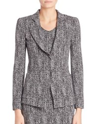 Armani Collezioni Broken Chevron Jacket Black Grey Multi