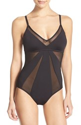 Women's Kenneth Cole New York 'Sheer Satisfaction' One Piece Swimsuit