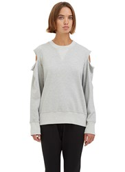Bassike Oversized Cut Out Jersey Sweater Grey