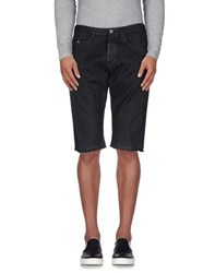 Dries Van Noten Denim Denim Bermudas Men Black