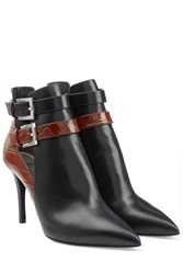 Fendi Leather Ankle Boots Black