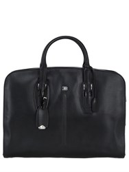 Ettore Bugatti Collection Zip Leather Briefcase
