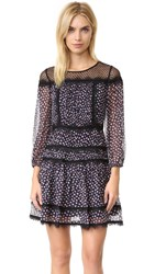 Diane Von Furstenberg Dvf Jamie Dress Pirouette Dot Navy Black