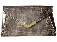 Jessica Mcclintock Lily Croco Small Envelope Clutch Bronze Cross Body Handbags