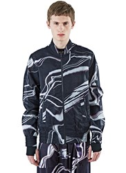 Y 3 Airmesh Lightning Print Ma 1 Jacket Black