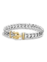 David Yurman Cable Buckle Singe Row Bracelet With 14K Gold Silver Gold