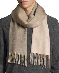 Begg And Co Ombre Cashmere Scarf W Fring Light Beige Camel