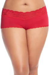Plus Size Women's Cosabella 'Never Say Never' Low Rise Boyshorts White