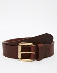 Barbour Matt Leather Belt Brown