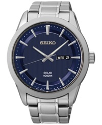 Seiko Men's Solar Stainless Steel Bracelet Watch 43Mm Sne361