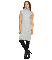 Fate Sleeveless Cowl Open Side Grey Women's Clothing Gray