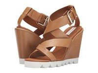 See By Chloe Sb26076 Cognac Women's Wedge Shoes Tan