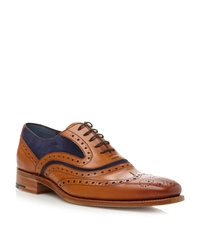 Barker Mcclean Lace Up Wingtip Brogues Tan