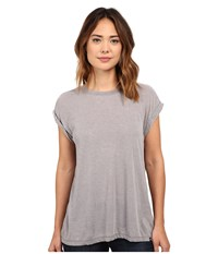 Hurley Staple Novelty Crew Carbon Heather Women's T Shirt Gray