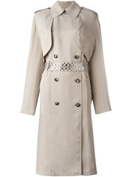 Alexander Wang Double Breasted Trench Coat Nude And Neutrals