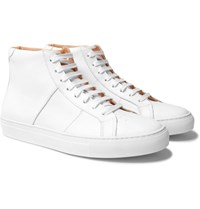 Greats The Royale Leather High Top Sneakers White