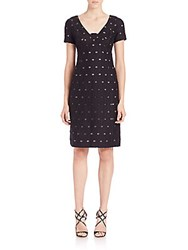 Piazza Sempione Cotton And Silk Quilted Fil Coupe Dress Black