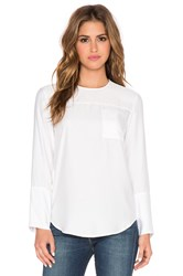 James Perse Sanded Satin Seamed Tunic White