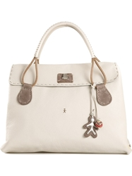 Henry Beguelin Foldover Top Tote Bag Nude And Neutrals