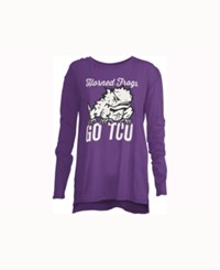Royce Apparel Inc Women's Tcu Horned Frogs Noelle Long Sleeve T Shirt Purple