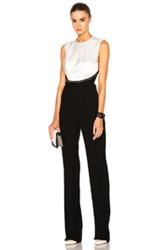 Thierry Mugler Velvet Cady Jumpsuit In Black