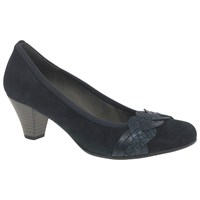 Gabor Kiss Block Heeled Court Shoes Pacific
