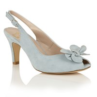 Lotus Hallmark Eulalia Peep Toe Courts Blue