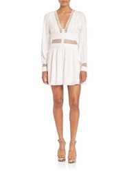 Free People I Think I Love You Crochet Inset Dress Ivory