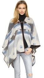 Re Named Toggle Button Poncho Grey Blue