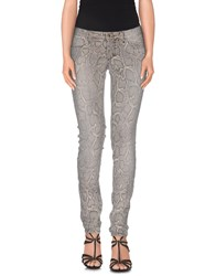 Plein Sud Jeanius Denim Denim Trousers Women Dove Grey