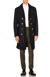 Coach 1941 Wool Captains Jacket In Blue